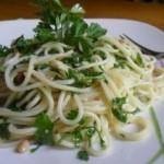 Рецепт. Спагетті із пармезаном та петрушкою.