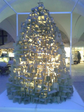альтернативні ялинки, новий рік, Гданьск, штучні ялинки