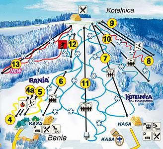 гірські лижі в польщі, гірськолижні курорти Польща