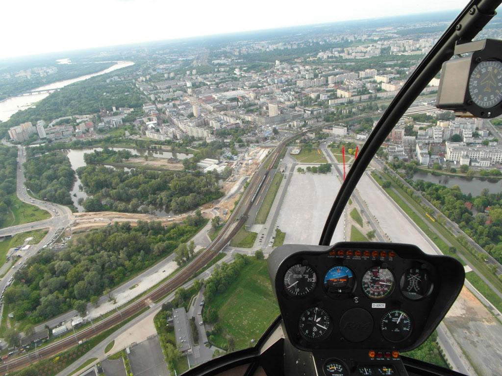 Есктримальний політ на вертольоті, Варшава