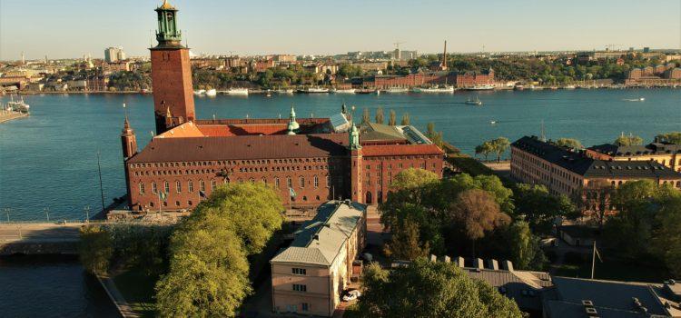 Стокгольмська Ратуша з висоти